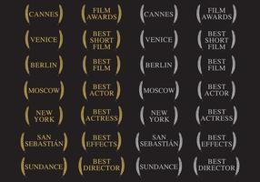 Prêmios Vencedores e Filmes vetor