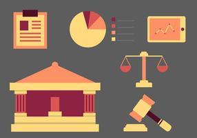 Ícones de livros de escritório de direito gratuito # 7 vetor