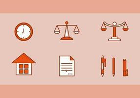 Ícones de vetores de escritório de direito gratuito # 2