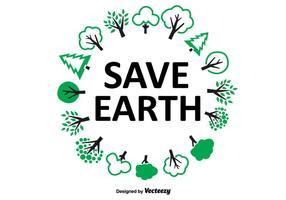 Salvar a grinalda da árvore da Terra