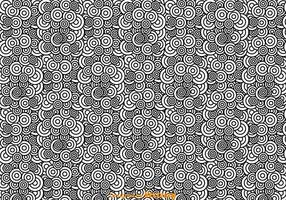Preto e branco Padrão abstrato do círculo vetor