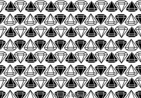 Padrão de diamantes em preto e branco vetor