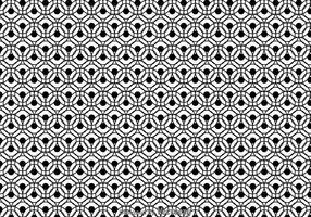 Padrão do círculo preto e branco vetor