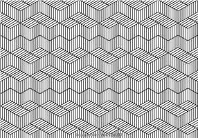 Padrão de linha em preto e branco vetor