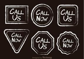 Ligue agora Ícones desenhados por giz vetor