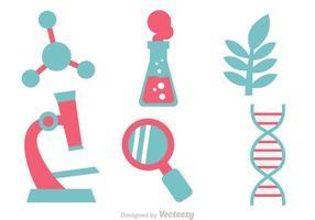 Vetores de ícone de pesquisa de DNA