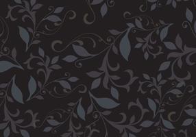 Vetor de fundo de padrão floral escuro