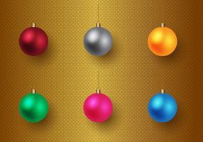 Vector de Baubles de Natal grátis