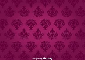 Tapeçaria de parede de ornamento floral roxo vetor