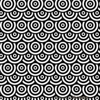 Pontos preto e branco Circles Pattren vetor