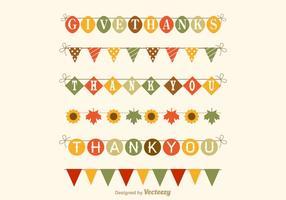 Conjunto de vetores de Garland grátis de Ação de Graças