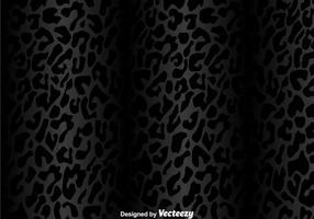 Padrão Leopardo Preto vetor