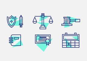 Ícones de livros de escritório de direito gratuito # 10 vetor