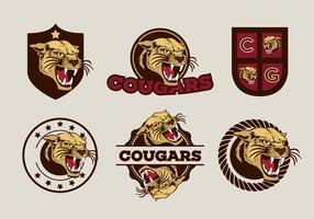 Mascote do vetor cougar