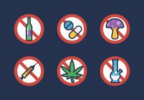 Ícone de vetores sem drogas