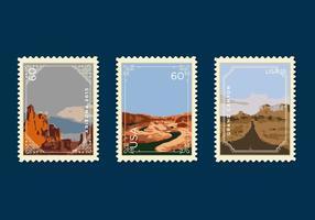 Selo postal do Grand Canyon do vetor