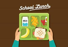 Almoço escolar vetorial vetor