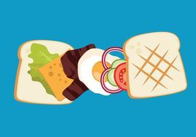 Sanduíche panini de vetores