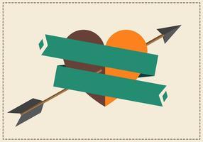 Flecha do vetor através do coração