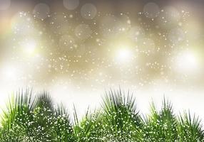 Vector de agulha de pinho de Natal grátis