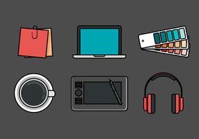 Conjunto de ícones do vetor Designer Stuff