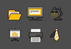 Conjunto de ícones do vetor do escritório