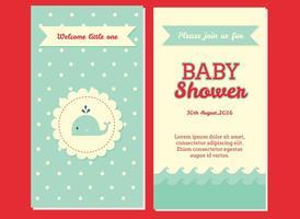 Vetor do convite da festa do bebé