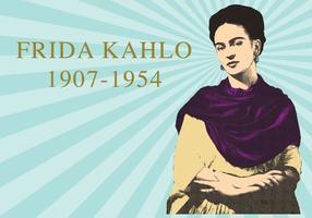 Frida khalo woodcut vetor