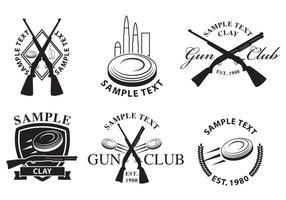 Logotipos do Gun Club vetor