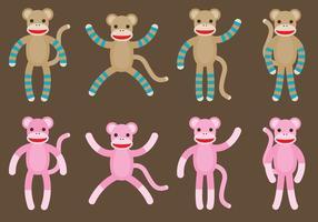 Macacos de peúga vetor