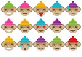 Emoticons do macaco da peúga vetor
