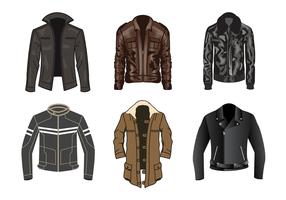 Vector de jaqueta de couro grátis