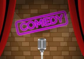 Estádio do clube de comédia vetorial