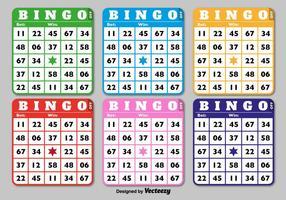 Cartões clássicos de Bingo vetor