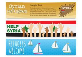 Vetores de banner de refugiados