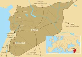 Mapa da Síria Vector