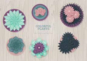 Ilustração vetorial das plantas vetor