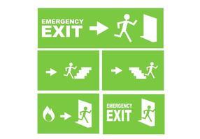 Sinal de saída de emergência Vector grátis