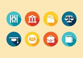 Conjunto de ícones do direito vetorial vetor