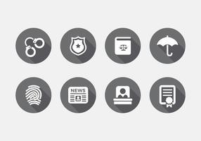 Conjunto de ícones de direito vetorial