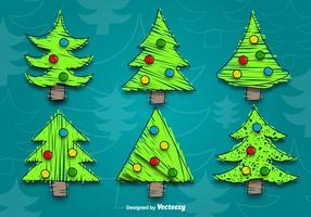 Vetores da árvore de natal dos desenhos animados