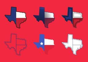 Ícones de vetor de mapa do Texas # 2