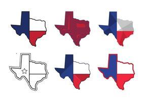 Ícones do vetor do mapa do Texas # 1