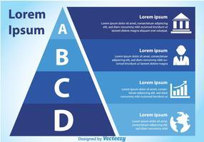 Gráfico da pirâmide azul vetor