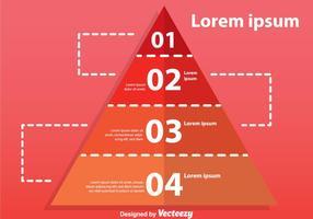 Gráfico de pirâmide de quatro passos vetor