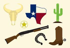 Ícones do vetor do Texas