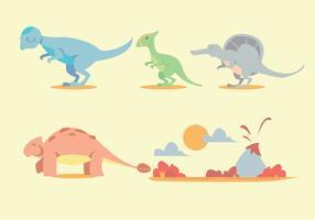 Conjunto de vetores de dinossauro