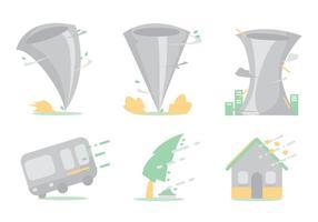 Conjunto de vetores tornados