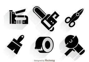 Vetores de ferramentas de construção de trabalho