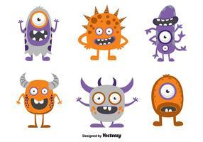 Monstro engraçados de desenhos animados vetor